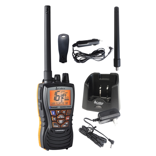 Cobra HH500 Floating Handheld VHF Marine Radio (Bluetooth)