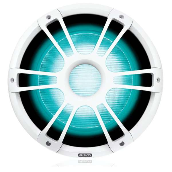 Fusion 12 Inch 1400W Sports White Subwoofer with CRGBW LED Lighting