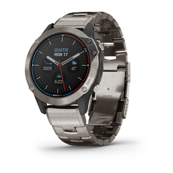 Garmin Quatix 6 Saphire Smartwatch Titanium Gray with Titanium Band