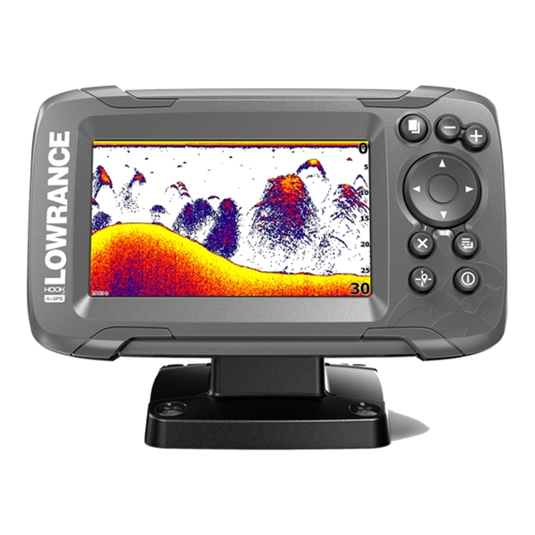 Lowrance Hook 2-4X 4 Inch Fishfinder All Season Pack (Portable Version)
