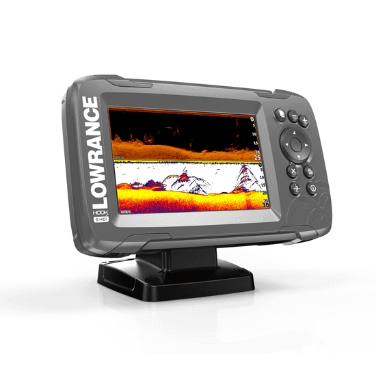 Lowrance HOOK 2-5 5 Inch Chart / Fishfinder With SplitShot TR (DownScan)