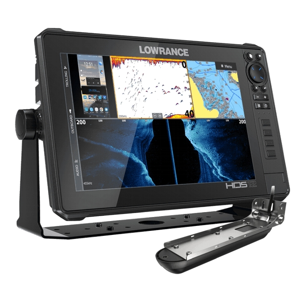 Lowrance HDS-12 LIVE with Active Imaging 3-1 Transom Mounted Transducer