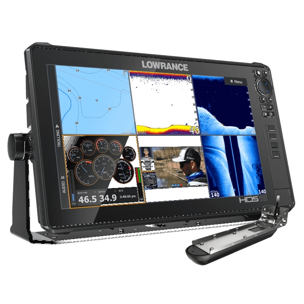 Lowrance HDS-16 LIVE with Active Imaging 3-1 Transom Mounted Transducer