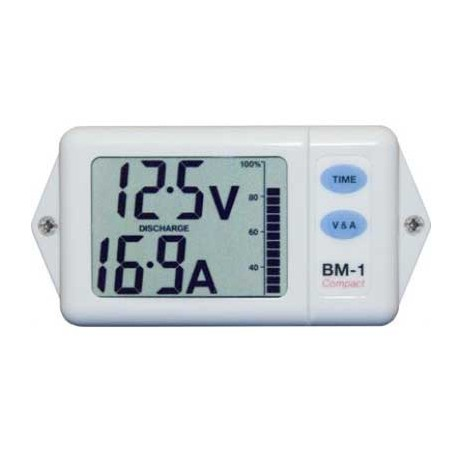 NASA Battery Monitor - Compact - White (24VDC)