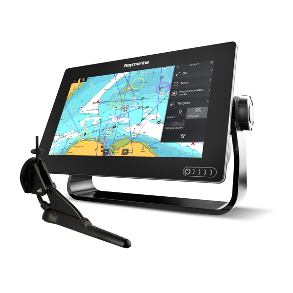 Raymarine Axiom 9 RV - 9 Inch Multi Function Display With RealVision 600W Sounder With CPT-100DVS DownVision TR