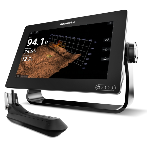 Raymarine Axiom 9 RV - 9 Inch Multi Function Display With RealVision 600W Sounder With RV-100 3D TR