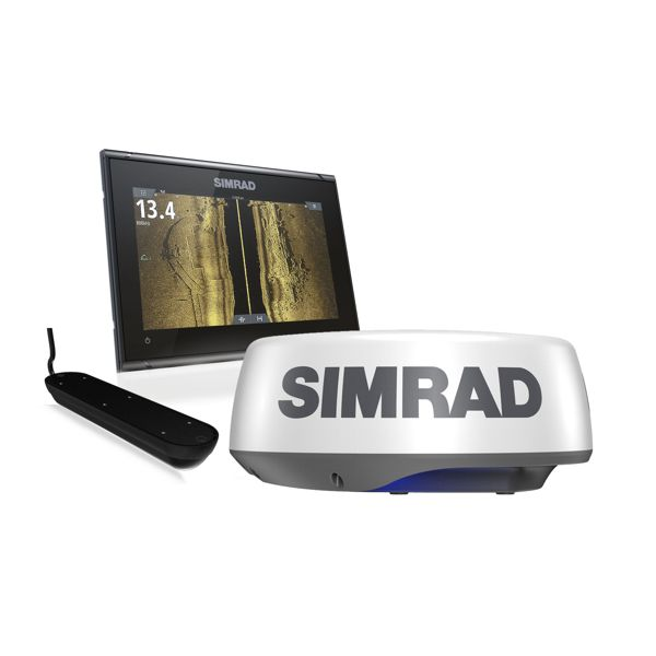 Simrad GO9 XSE With Transom Active Imaging 3 in 1 Transducer & Halo 20+ Radar