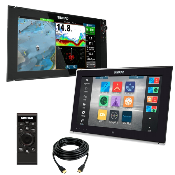 Simrad Dual Station 16 inch Navigation System with NSS16 (Bundle)
