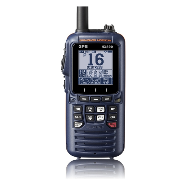 Standard Horizon HX890E Class H DSC Handheld VHF With GPS - Navy Blue