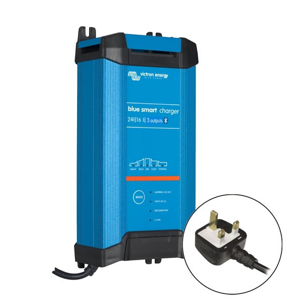 Victron Blue Smart IP22 Charger 24v/16a (3 outputs) UK Plug
